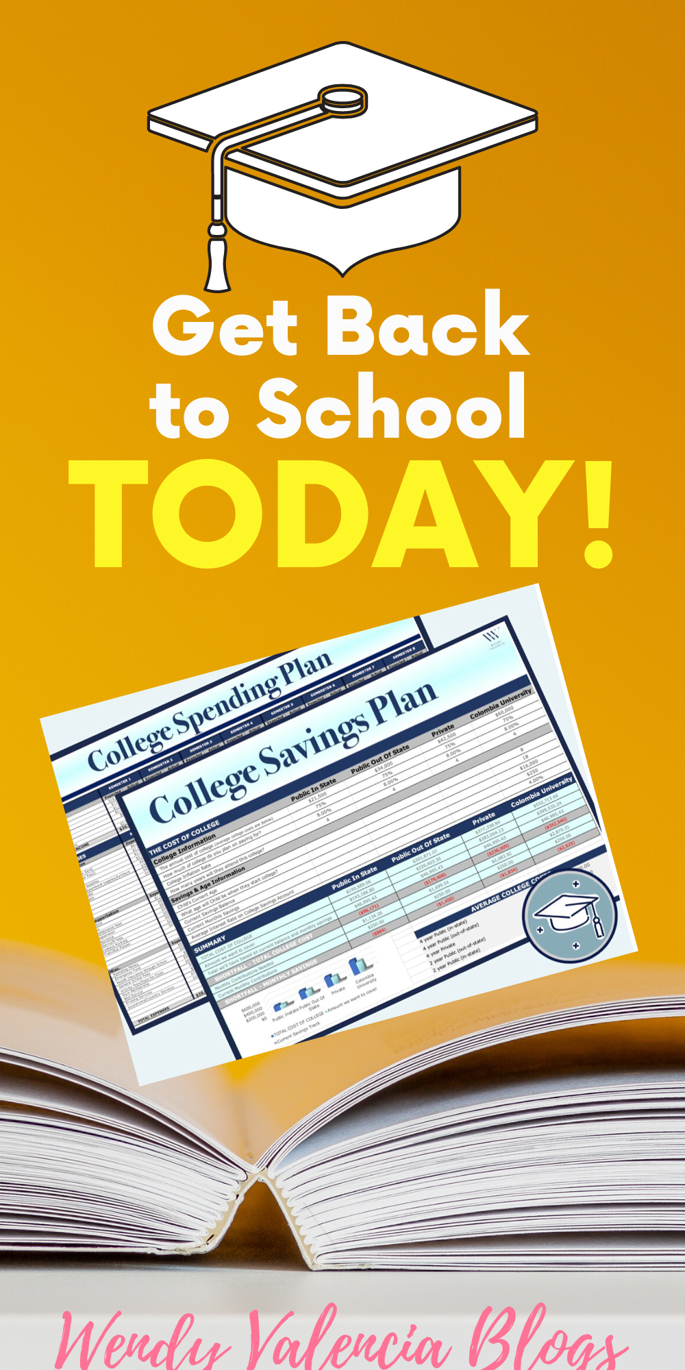 College Savings Plan College Cost Calculator College Budget By Semester Wendy Valencia College Savings Plans College Costs Savings Plan
