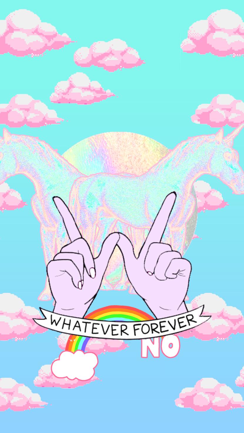 Wallpaper iphone tumblr unicorn - Whatever Forever Background Wallpaper Lock Screen
