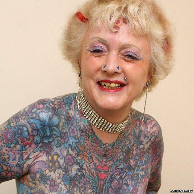 Tattoo Woman Photo: 'Most Tattooed' Woman, 77, Dies