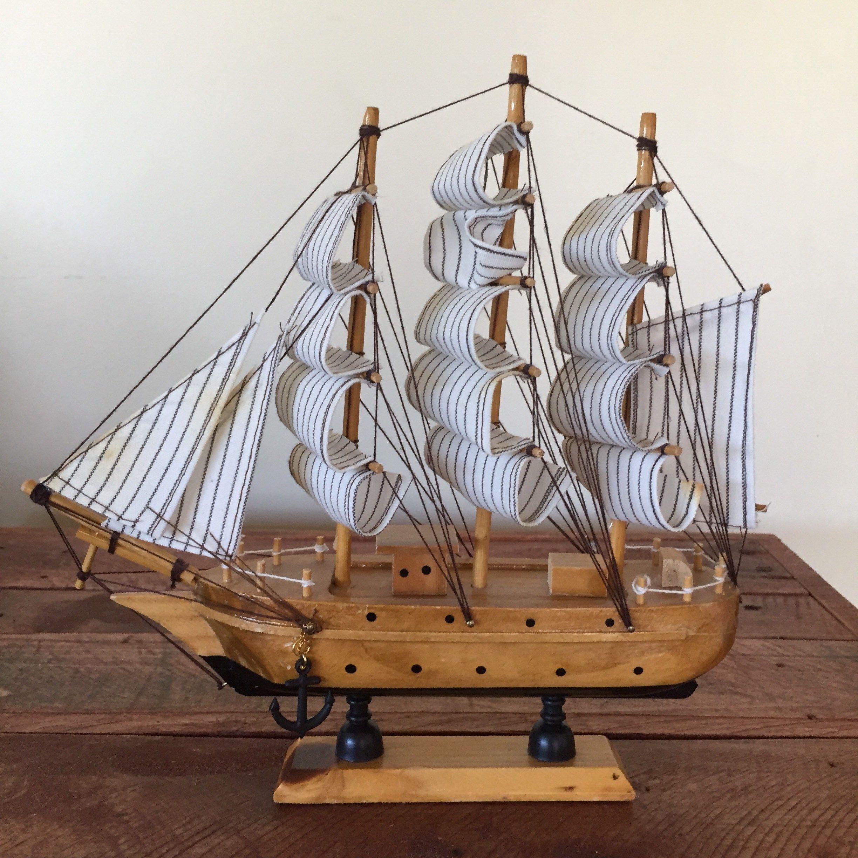 Vintage Decorative Model Ship Historic Model Ship Vintage