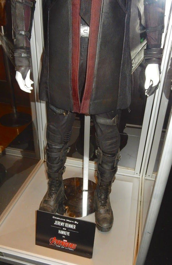 Captain America Iron Man and Hawkeye costumes from Avengers Age of Ultron on display. & Age Of Ultron Costume | Hawkeye | Pinterest
