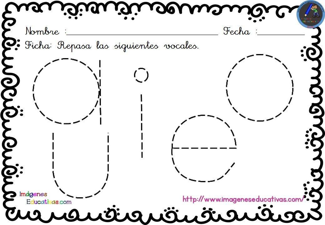 Cuaderno de repaso escritura atención y números 3-4-5 AÑOS | Vocales ...