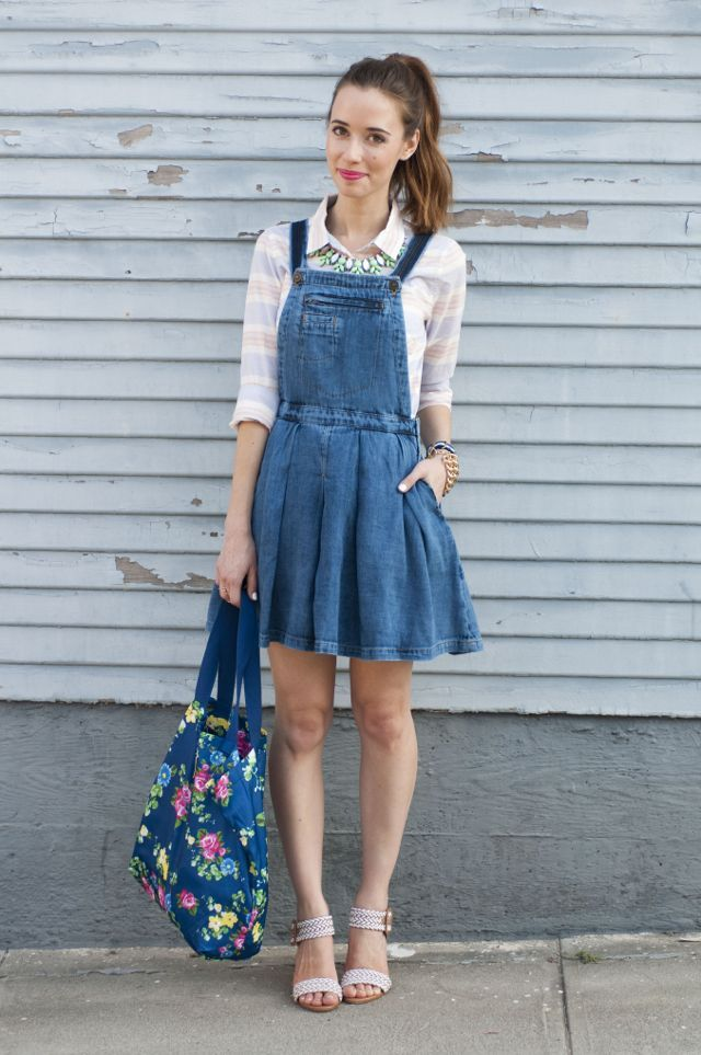 Acid Wash Dual Way Detachable Denim Jean Skater Skirt Overalls ...