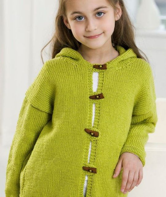 Free Knitting Pattern for Smoothie Hooded Jacket - Easy knitting ...