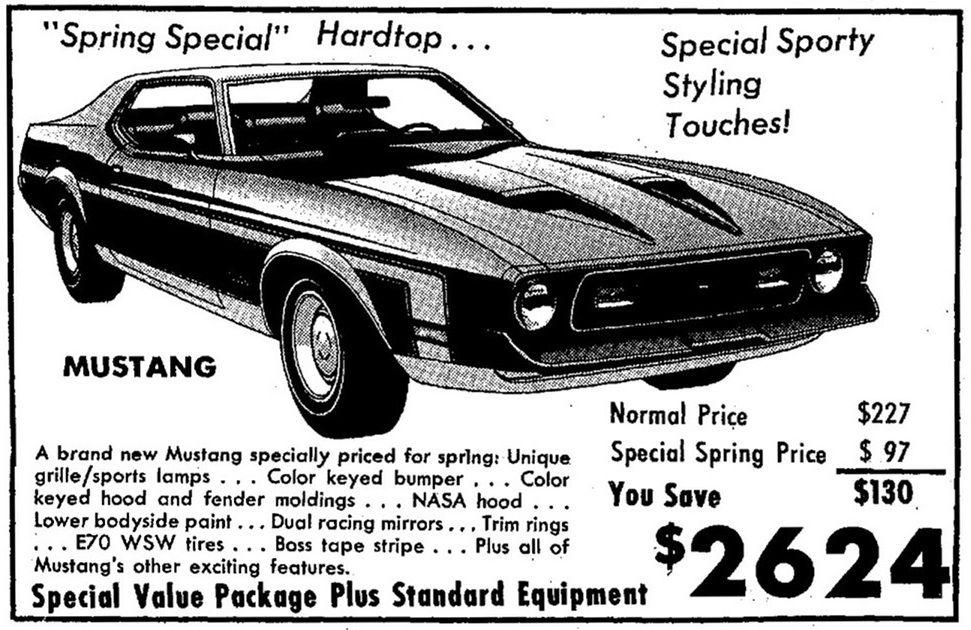 1971 spring special hardtop package newspaper. Black Bedroom Furniture Sets. Home Design Ideas