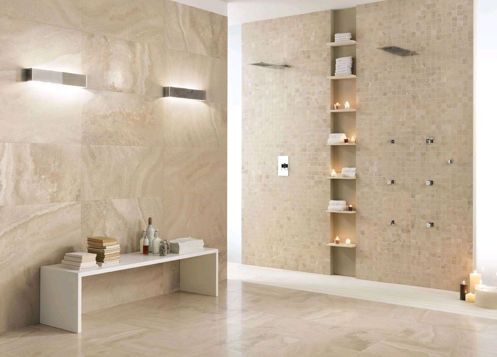 Like These Titles For The Main Bathroom   Italics Caracalla Avorio  Porcelain Tile
