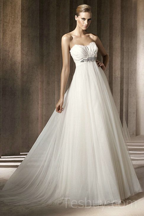 Beteau Tulle Empire Featured Maternity Wedding Dresses 2012,Fashion ...