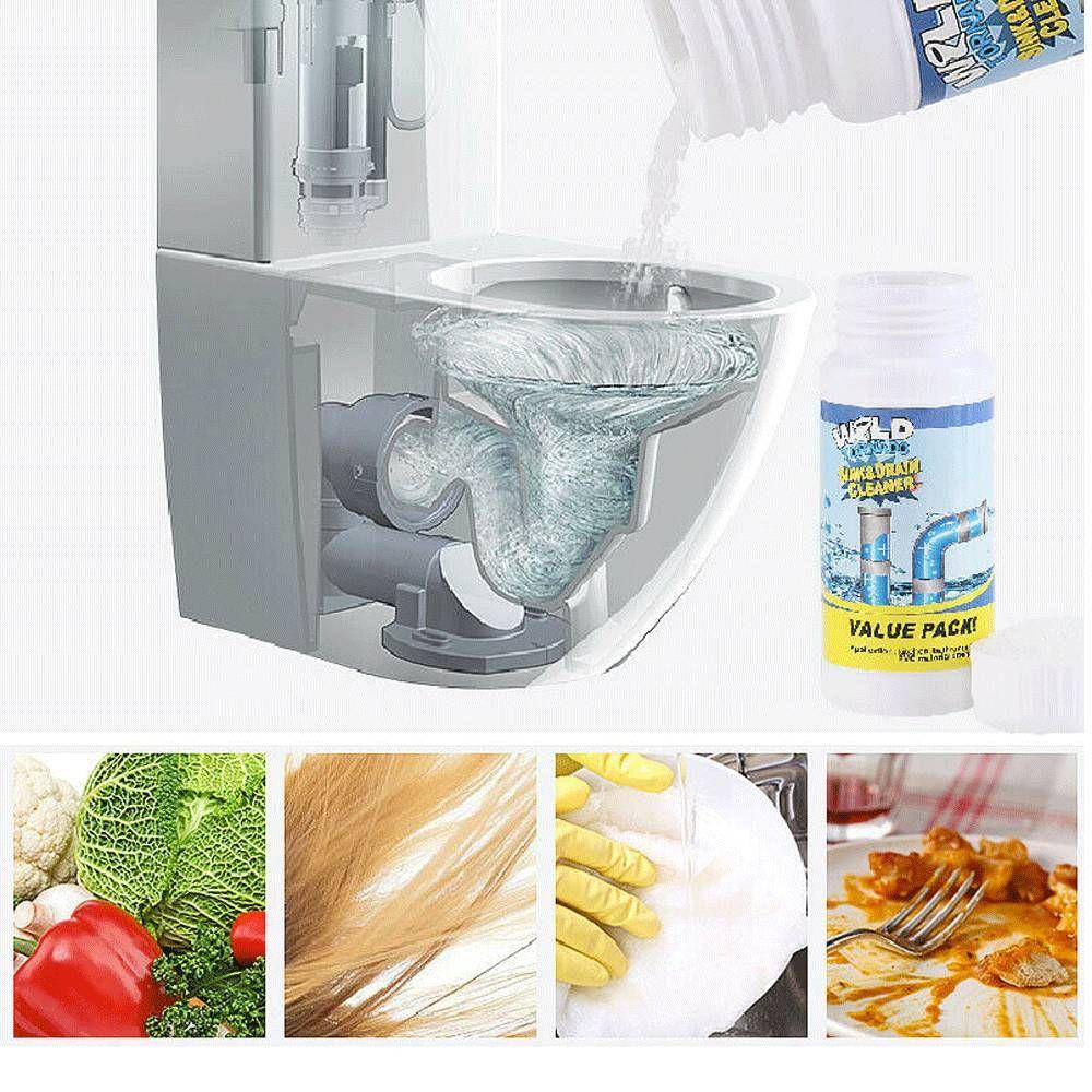 Magiccleansafe Leistungsstarker Waschbecken Und Abflussreiniger Mit Bildern Waschbecken Waschbecken Abfluss Abfluss