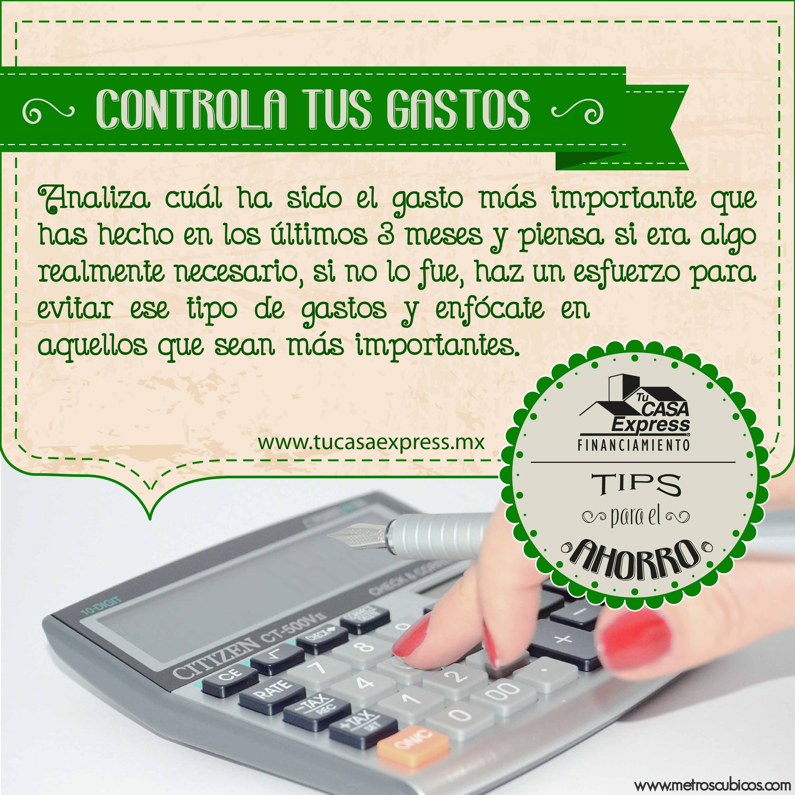Haz un análisis de tus gastos y controla tus finanzas. #FinanzasExpress