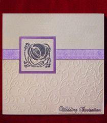 Rennie Mackintosh Wedding Invitation