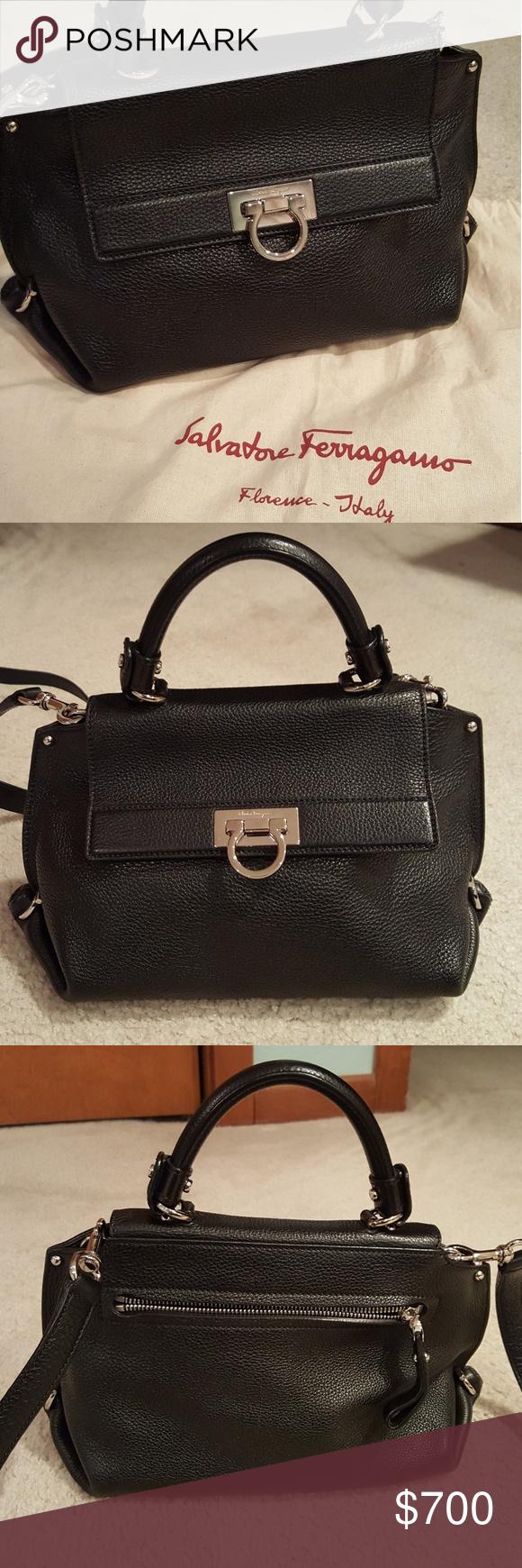 42ed3540b7 Salvatore Ferragamo Small Black Sofia Bag Gently used   in excellent  condition. Stored in original