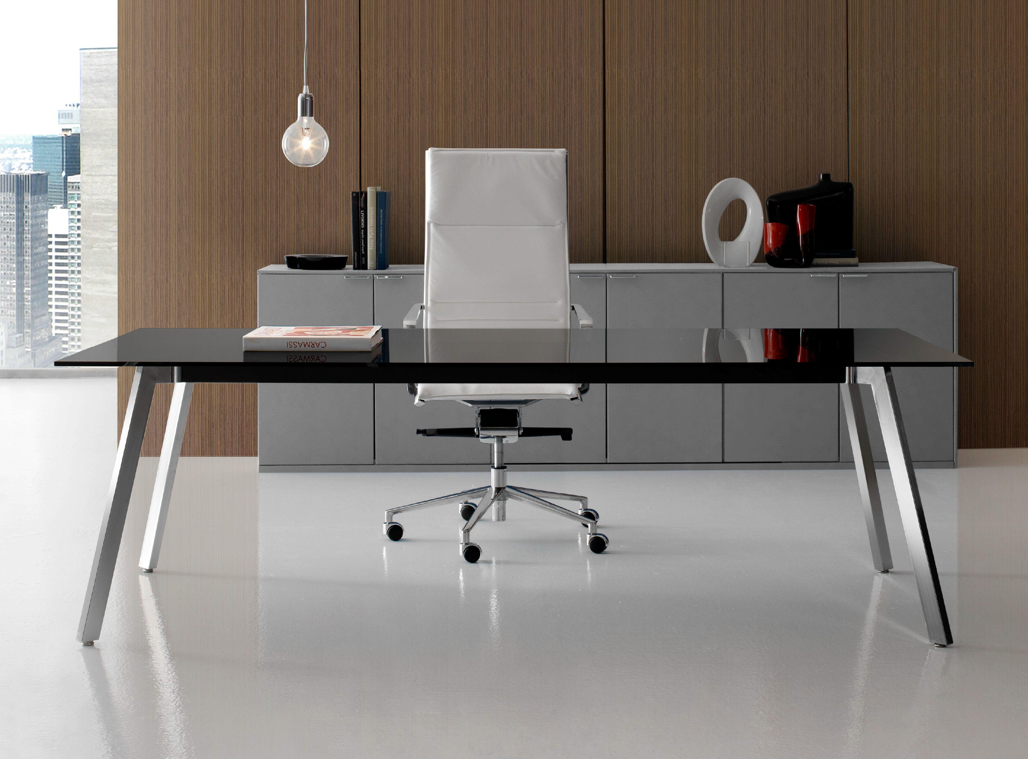 Soho escritorio de oficina de vidrio colecci n soho by for Diseno de muebles de oficina modernos