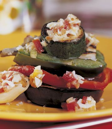 Parrillada de verduras con vinagreta