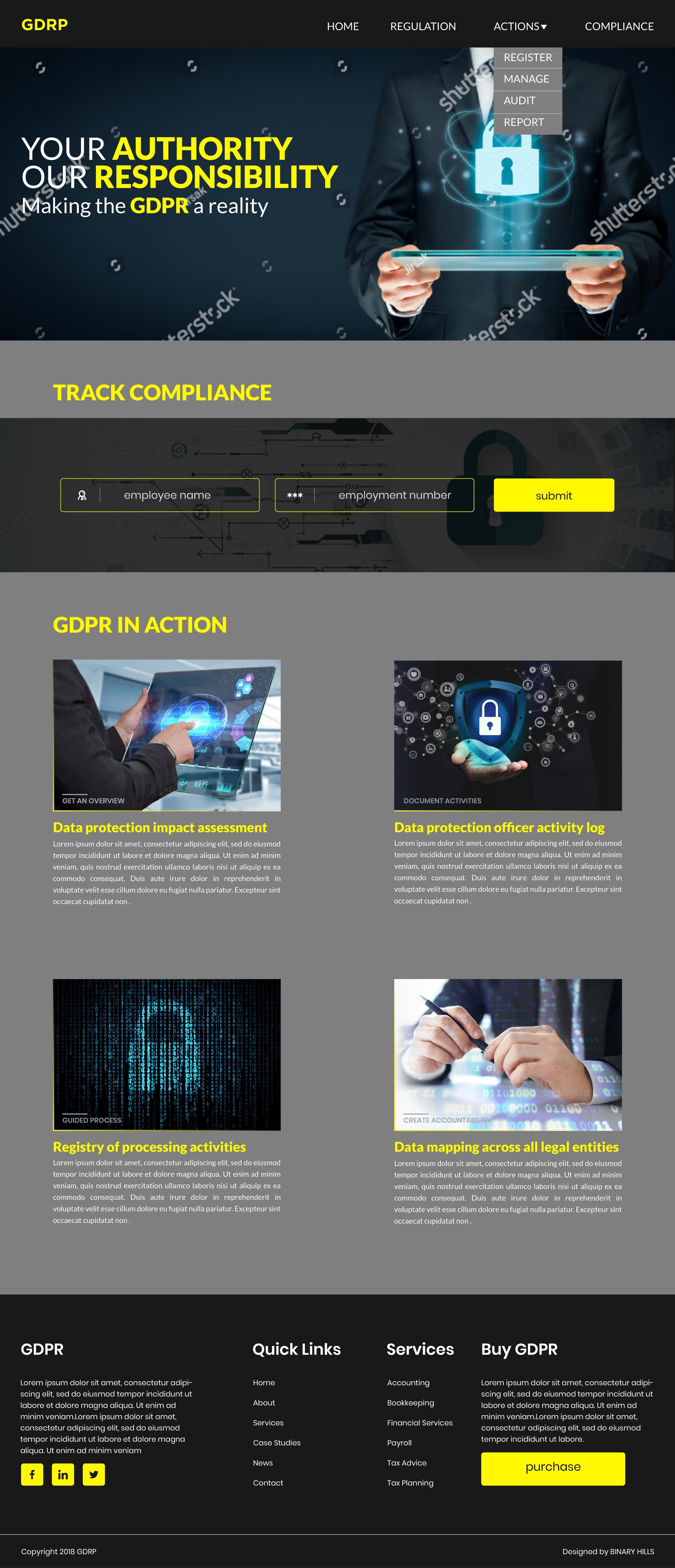Web template of GDPR | GDPR | Pinterest | App development companies ...