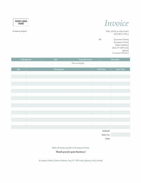 Ms Word Invoices  Invoice    Invoice Template Word
