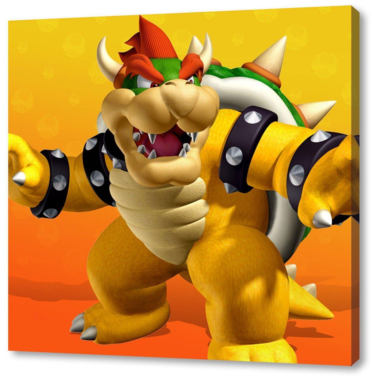 Super Mario Format: 60x60cm, Leinwandbild Auf Holzrahmen Gespannt,  Leinwandbild, 1A Qualität Zu