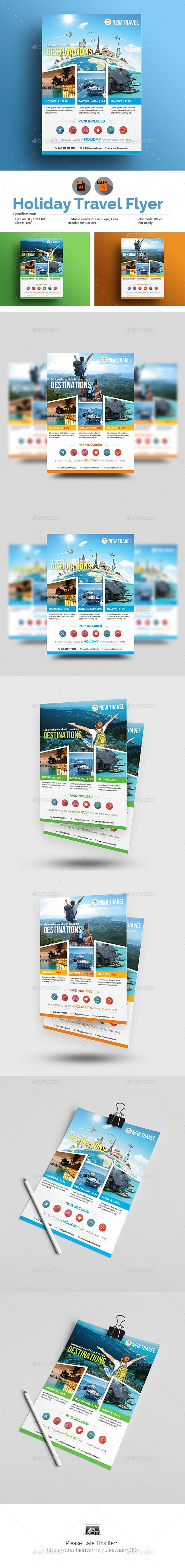 Holiday Travel/Tour Flyer Template Travel tours, Flyer