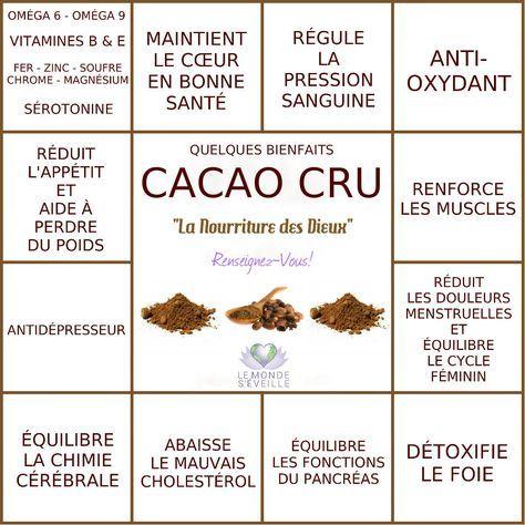 """Résultat de recherche d'images pour """"le cacao bienfaits santé"""""""