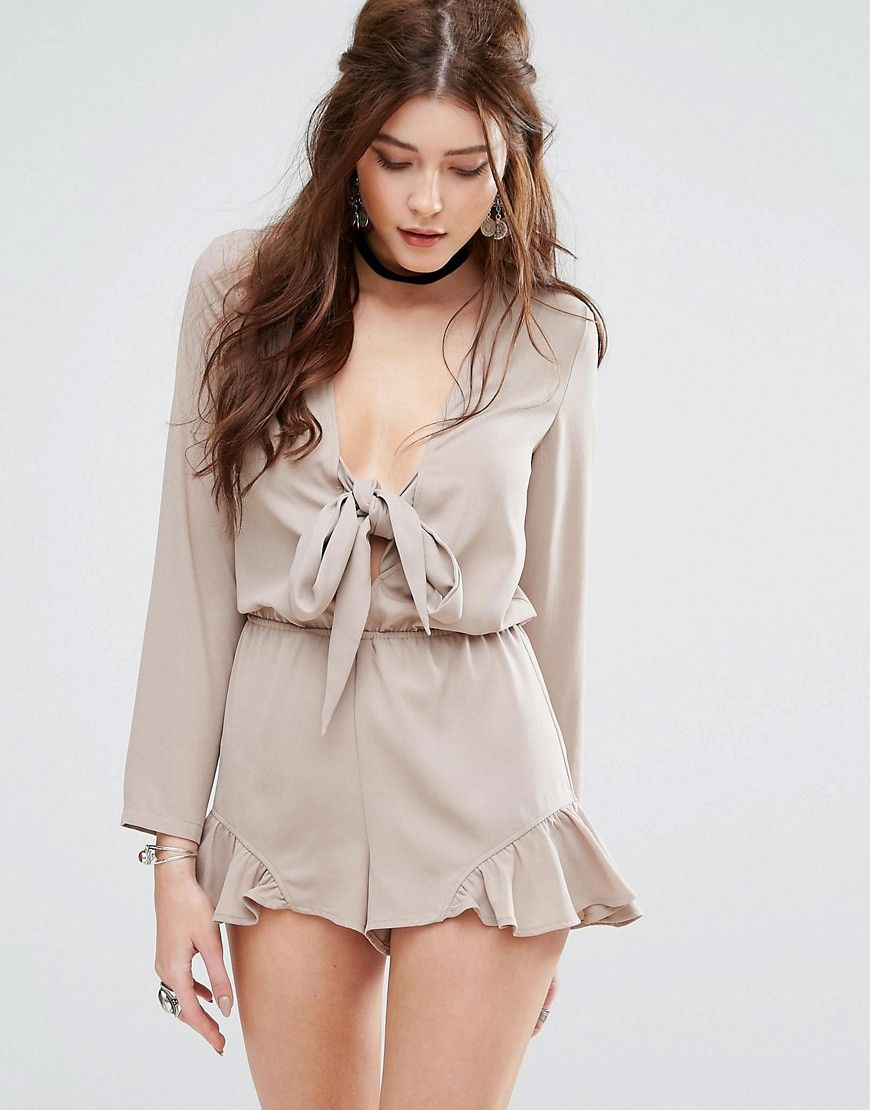 2018 New For Nice Online Cut Out Playsuit - White Glamorous iYAZg