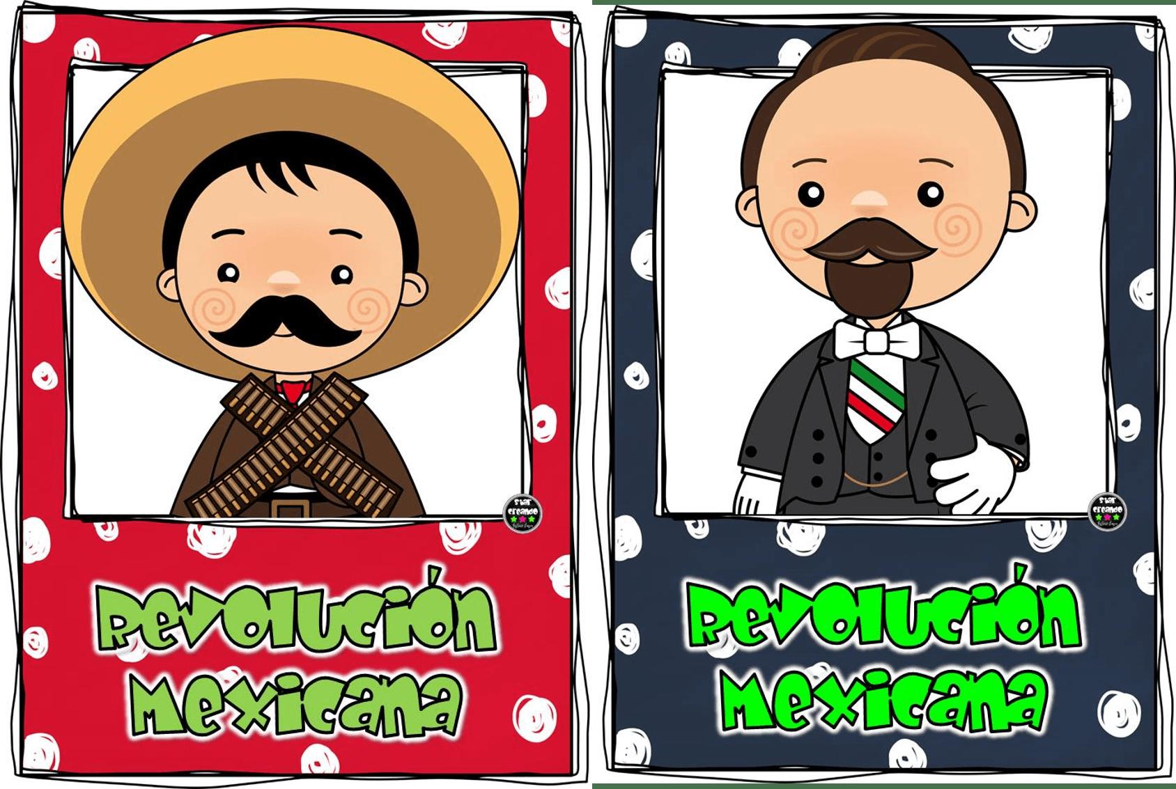 Dibujos Para Colorear 20 Noviembre Preescolar: Personajes Del 20 De Noviembre. Revolución Mexicana. Por