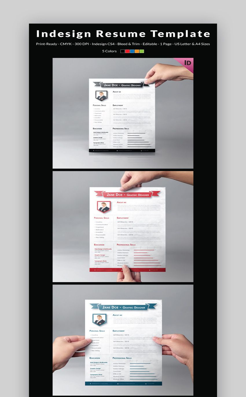 13 Free Download Resume Templates Indesign In 2021