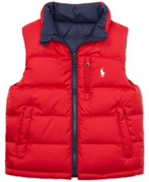 703c119c7a3f Polo Ralph Lauren Little Boys Reversible Quilted Down Vest - Grey ...