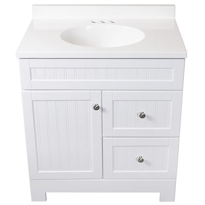 Style Selections Ellenbee 31-in White Bathroom Vanity with Cultured