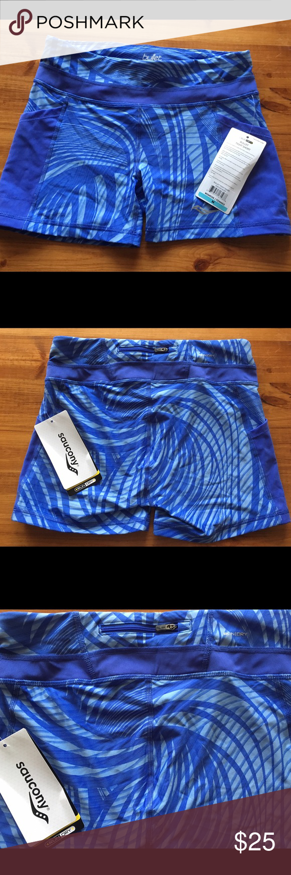 47466337d1 Saucony Bullet Tight Shorts Saucony bullet tight shorts. NWT. Size ...