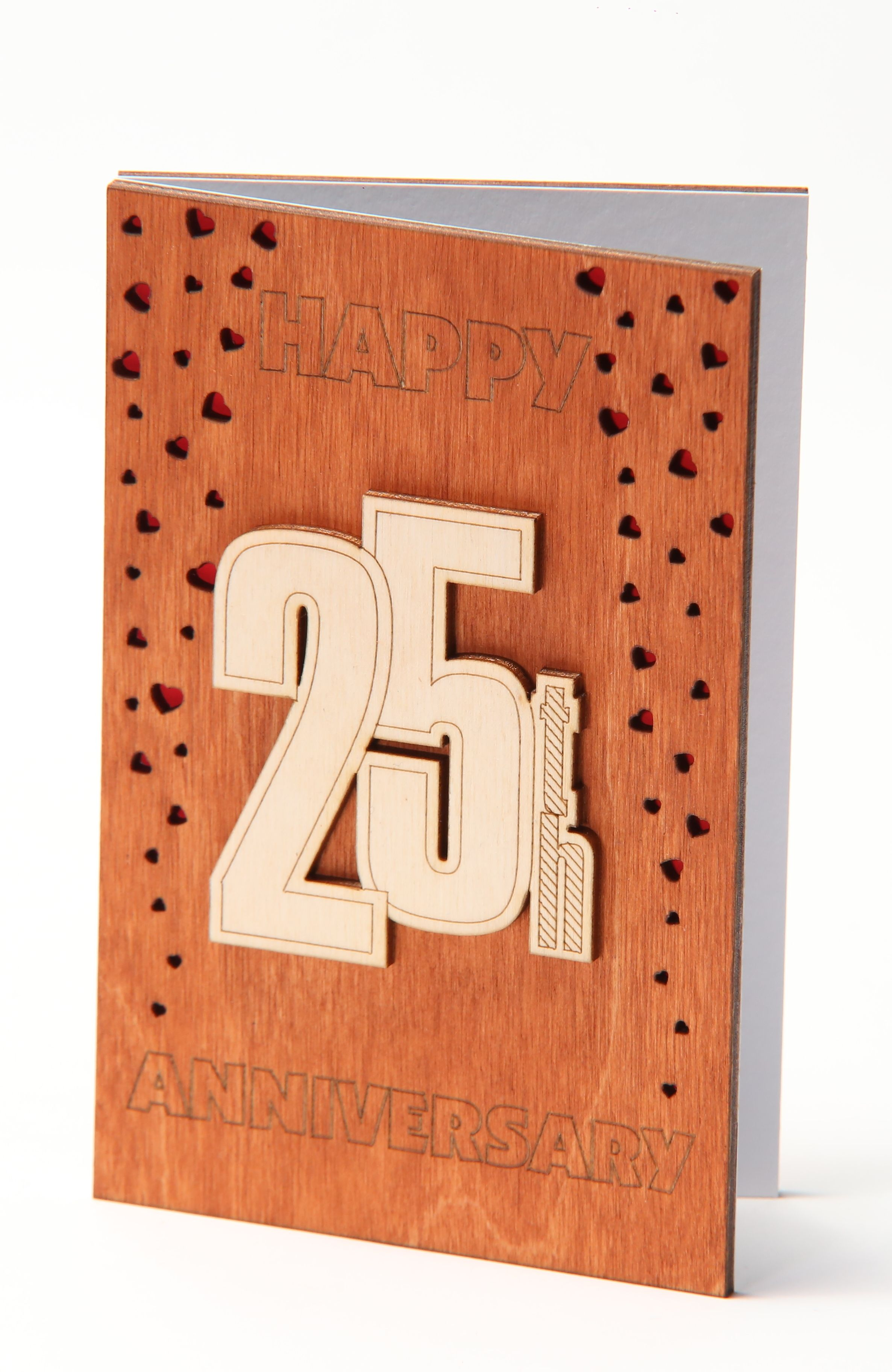 Happy 25th Anniversary Card, Gift for Twenty Five Years