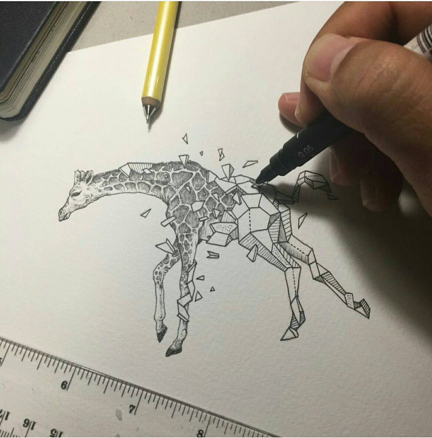 Tegninger, Blæk Og