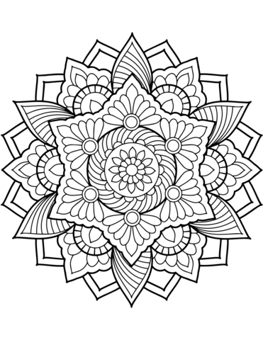 flower mandala coloring page dot painting mandalas etc mandalas para colorear mandalas. Black Bedroom Furniture Sets. Home Design Ideas