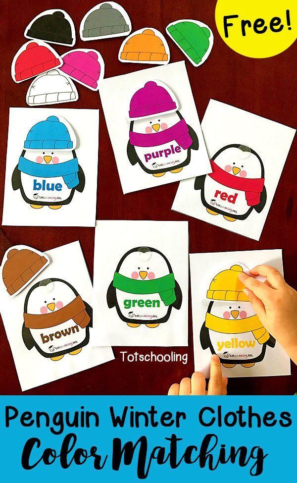 Penguin Winter Clothes Color Matching Preschool