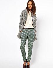 ASOS - Pantaloni con appariscente stampa geometrica