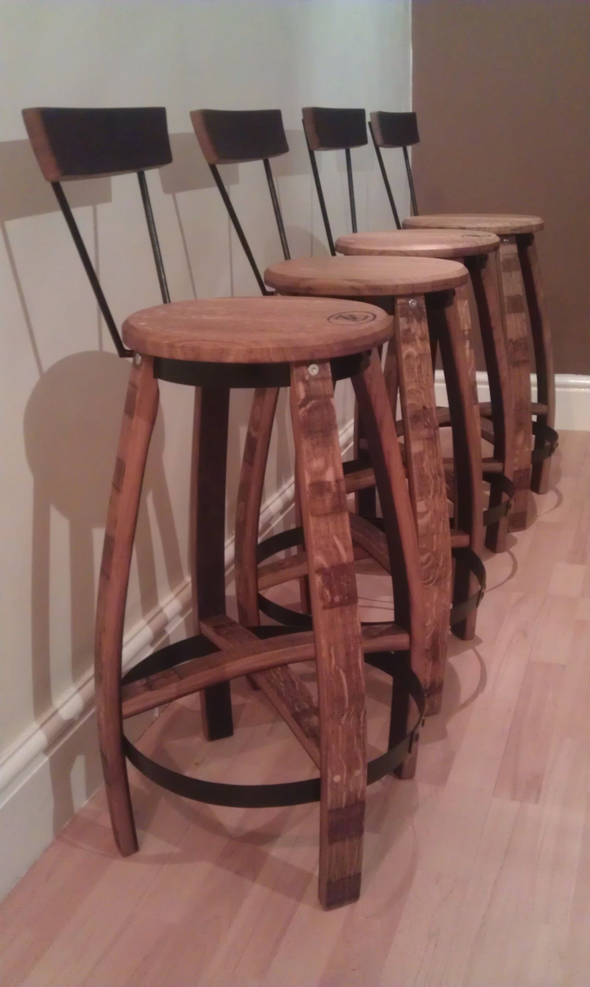 Bar Stools Breakfast Stools Handcrafted From Premium Wine Barrels For Sale 520 Inc Uk Post Where Applicable Barrel Projects Wine Barrel Breakfast Stools