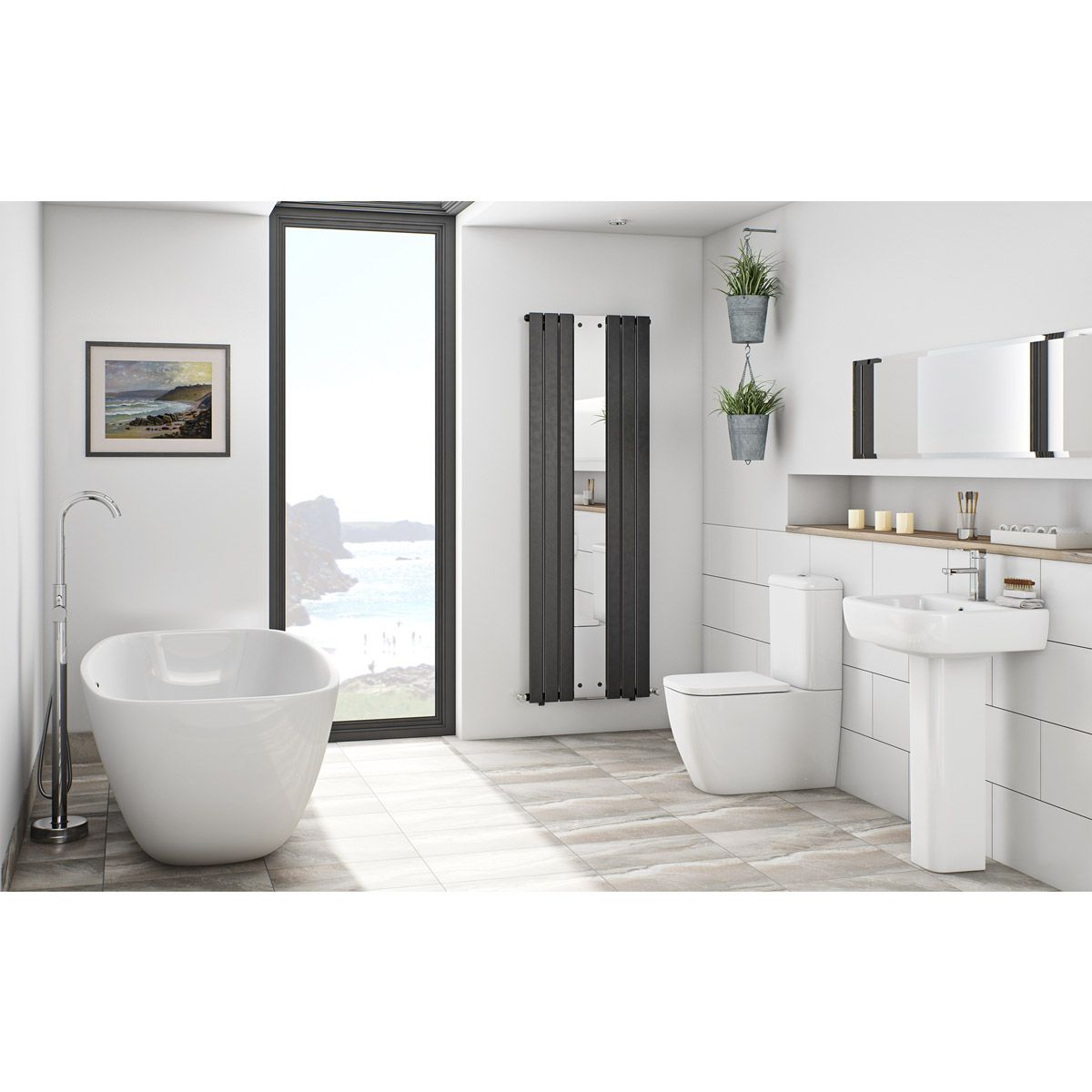 Click Here To Find Out More About On Trend, Designer Style Can Be Yours,  With This Stunning Freestanding Bath Suite From Mode Bathrooms.