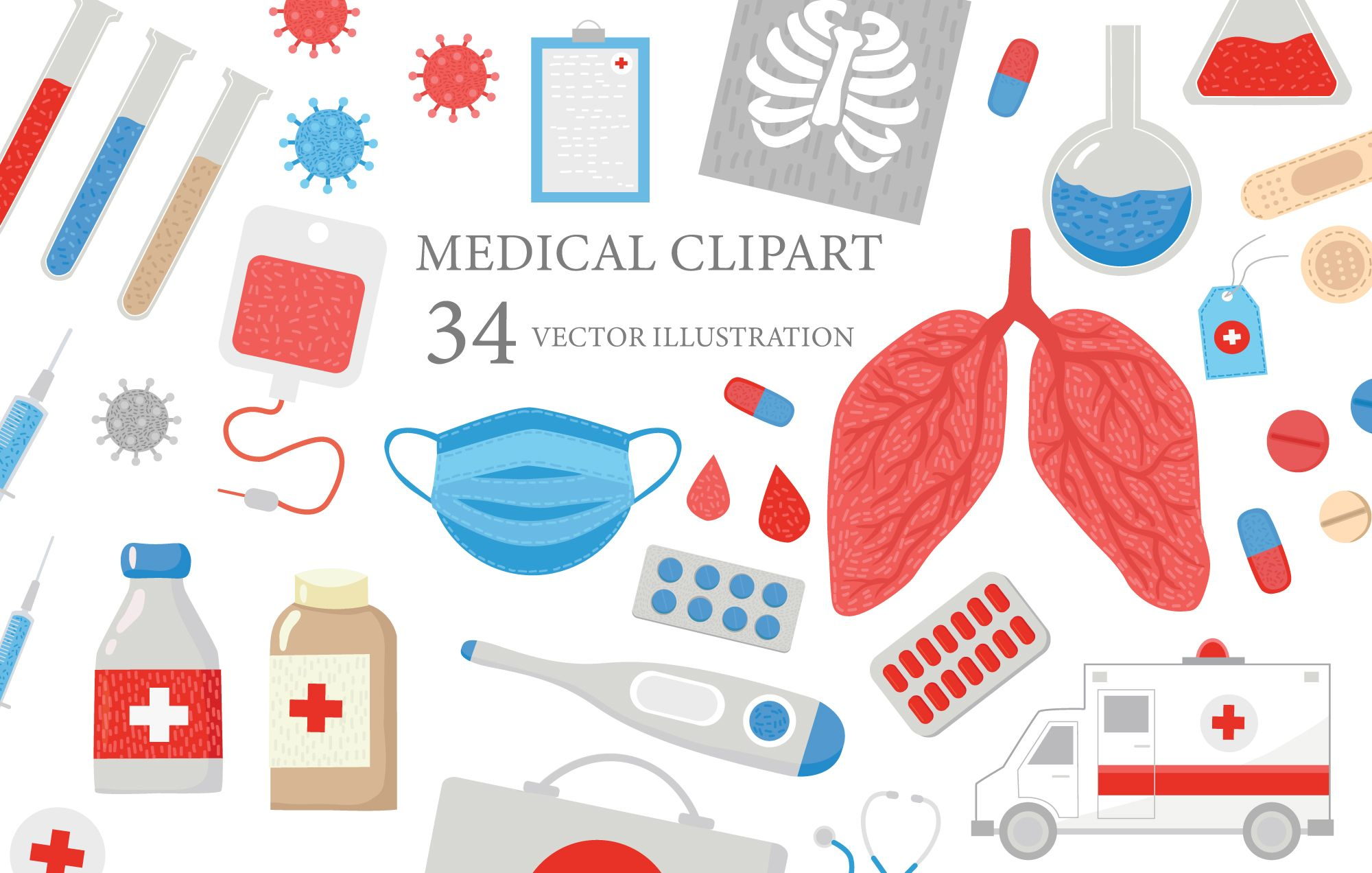 Health care illustration medical