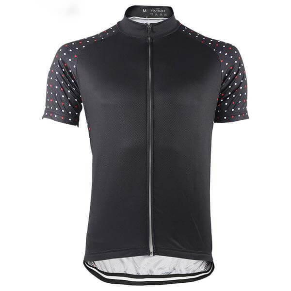 Men S Polka Dot Sleeve Black Cycling Jersey Cycling Outfit