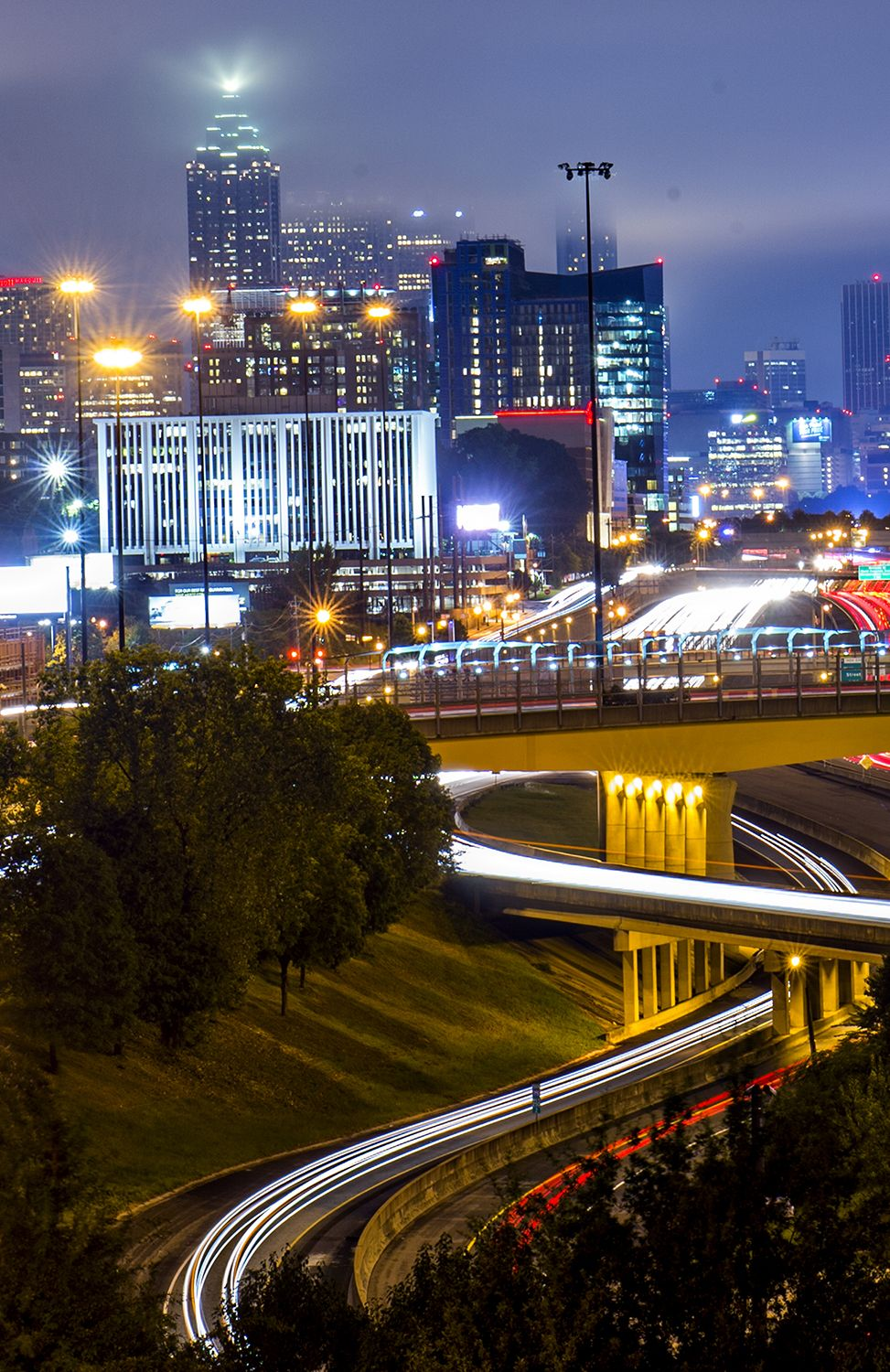 The beautiful side of Atlanta traffic, in 12 photos   - Curbed Atlantaclockmenumore-arrow : Traffic in Atlanta is generally an unsightly mess. Until you slow it ... way ... way ... down.