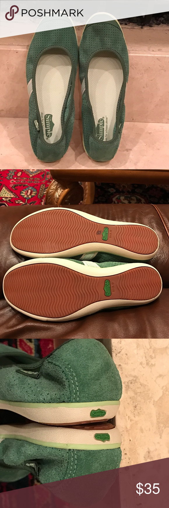 Simple ballet flat women's shoe Brand new without box Simple hola ballet flats slip on suede stretch, made with perforated micro velvet. The last photo it's not the actual color for the shoes! simple  Shoes Flats & Loafers