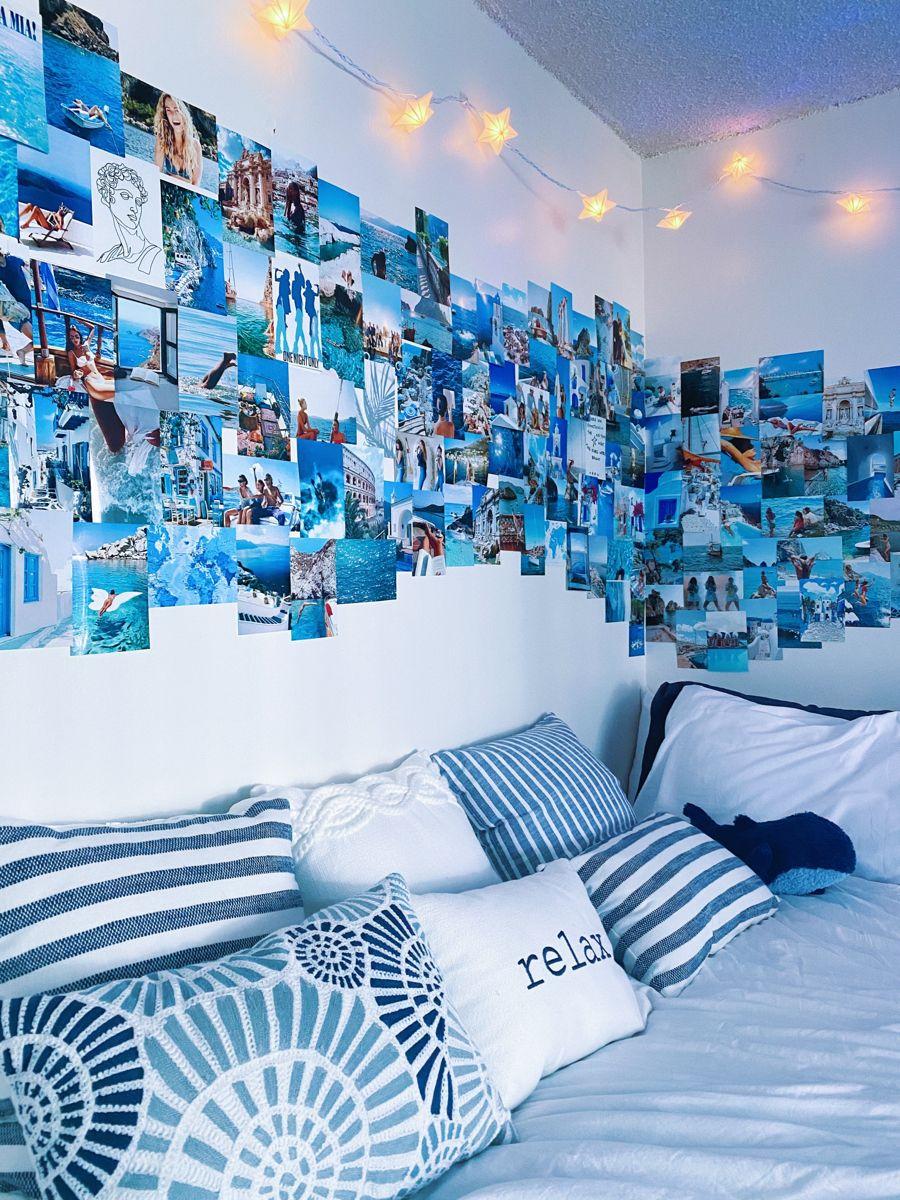 Mamma Mia Room In 2021 Blue Bedroom Decor Blue Room Decor Beach Style Bedroom Blue wallpaper room inspiration