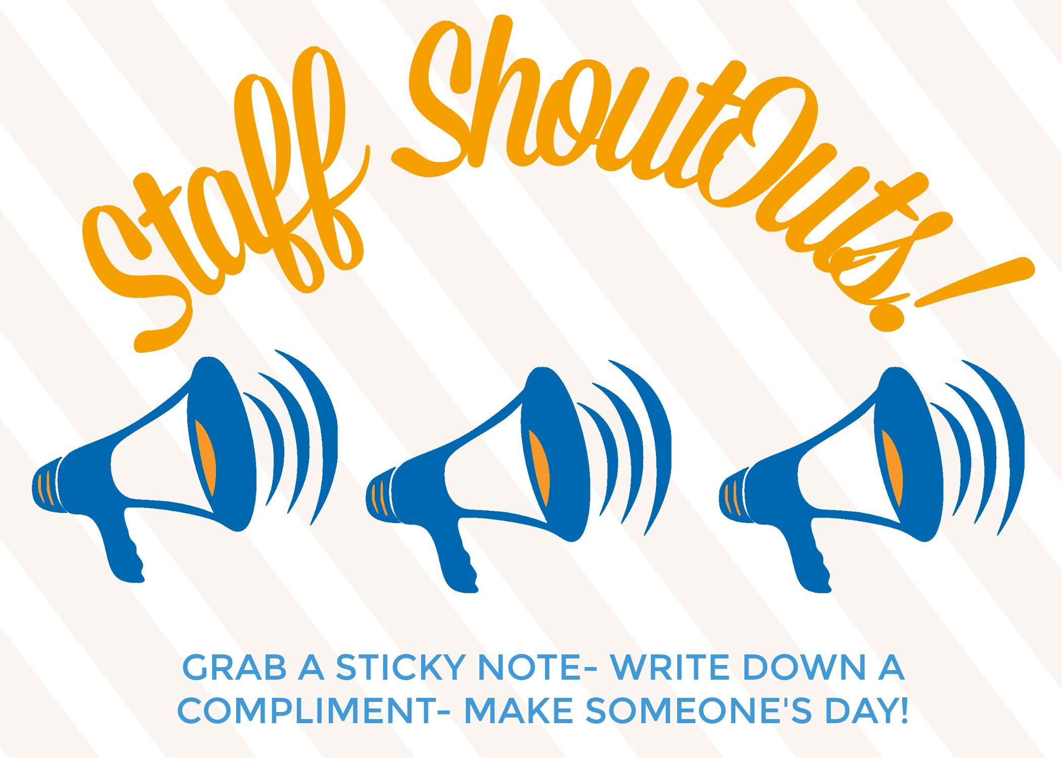 creating a staff shout out board to display in your breakroom is rh pinterest com Shout Out Graphics big shout out clip art
