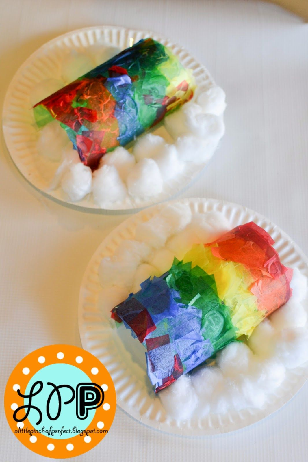 A Little Pinch of Perfect: Rainbow Easy Kids Art Project