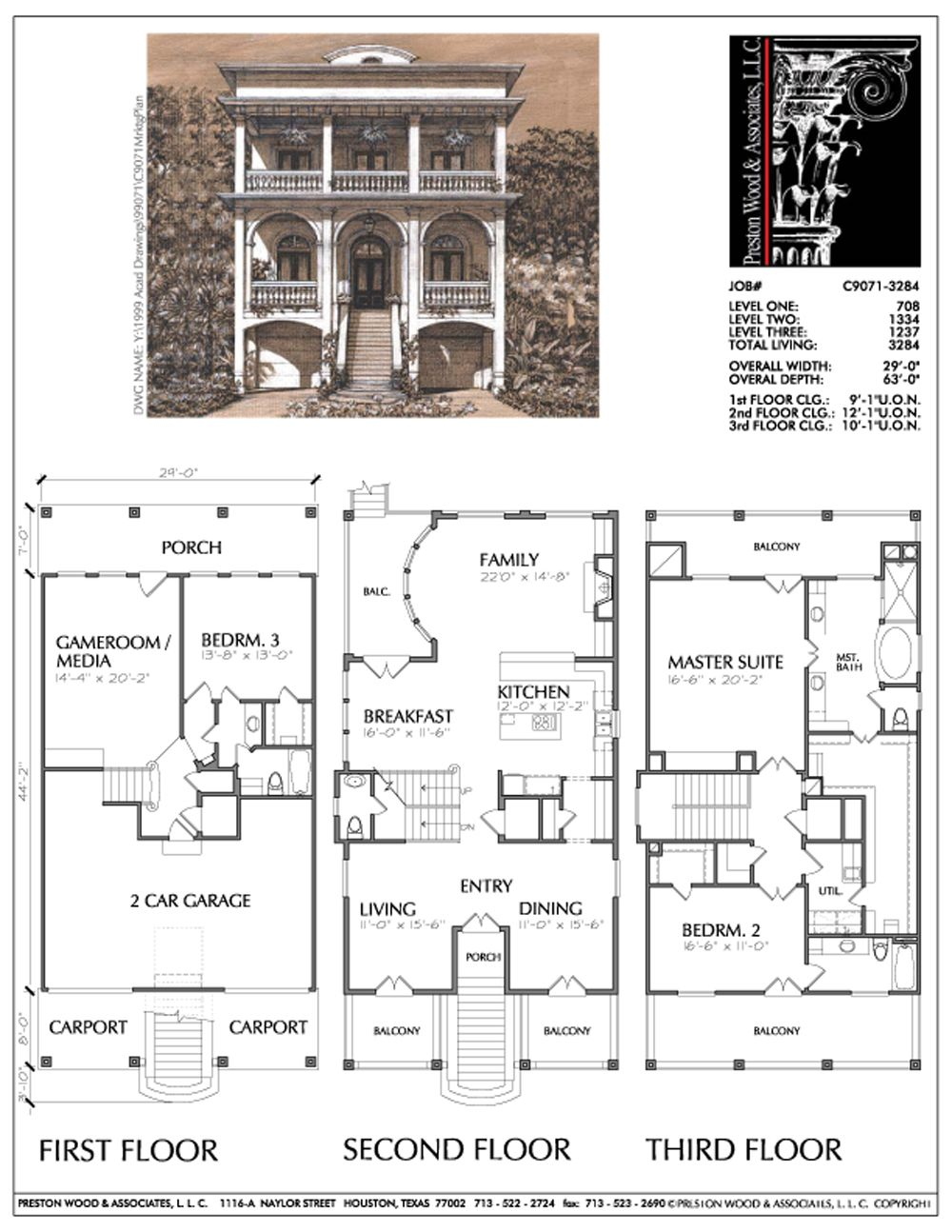 2 1 2 Story Urban House Plan E2046 House Layout Plans House Floor Plans House Plans