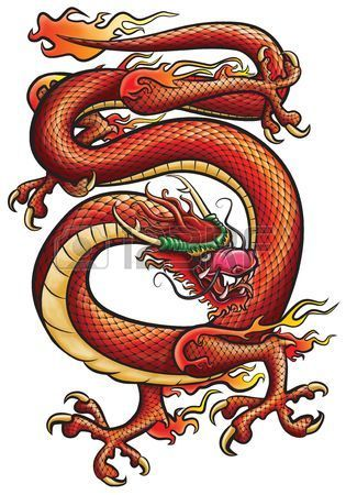 Stock Photo Tatouage Dragon Tatouages De Dragon Chinois Et