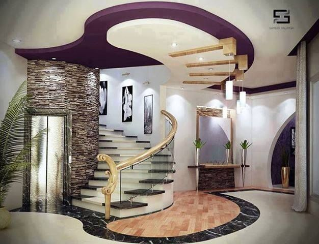 Beautiful Stairs False Ceiling Design Ceiling Design Modern   False Ceiling On Stairs   Angled   Low Budget   Tv Lounge Ceiling   Residential   Simple