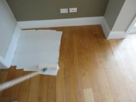 How To Paint A Wooden Floor White Before And After Painted