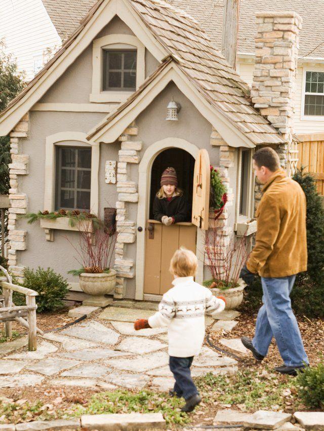 Playhouse Ideas | Backyard playhouse, Play houses, Shed ...