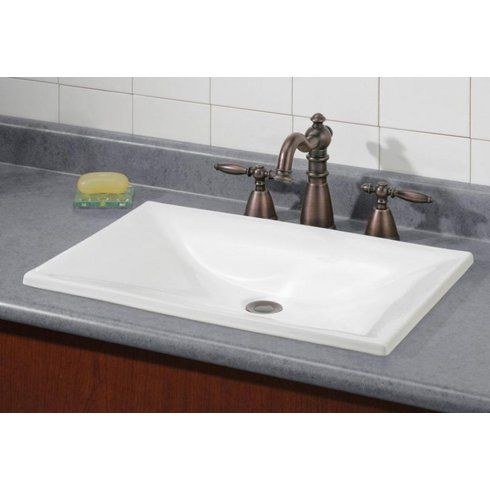 Estoril Vitreous China Rectangular Drop In Bathroom Sink Drop In Bathroom Sinks Rectangular Sink Bathroom Drop In Sink How to install a drop in bathroom sink