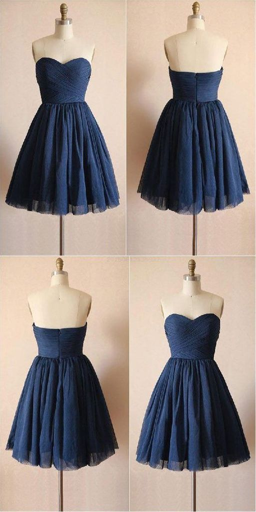 Cheap Luscious Navy Blue Navy Tulle Homecoming Dress,Prom Dress,Graduation Dress,Party Dress,B0224