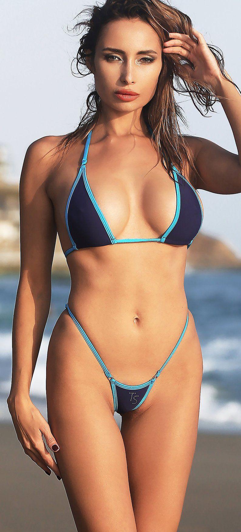 858d3cafbd7 Sexy Womens swimwear Thong Micro bikini set Erotic two piece ...